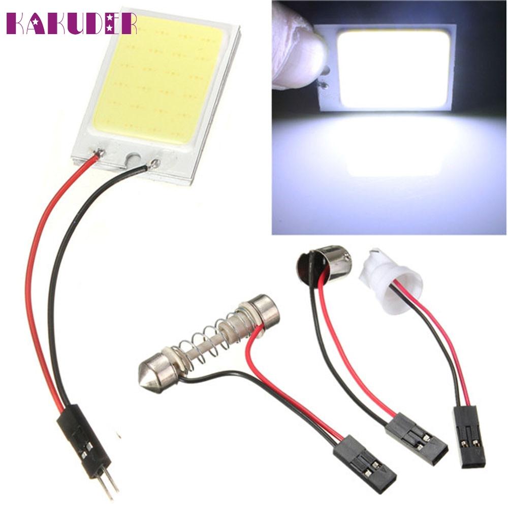 NEW 8W COB 24 Chip LED Car Interior Light T10 12V Panel light car light source fashion hot L615(China (Mainland))