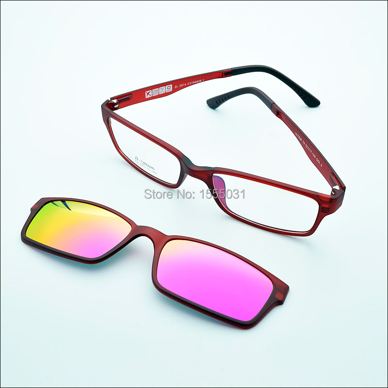 Anium Eyeglass Frames With Magnetic  free shipping ultra light tungsten anium glasses frame belt