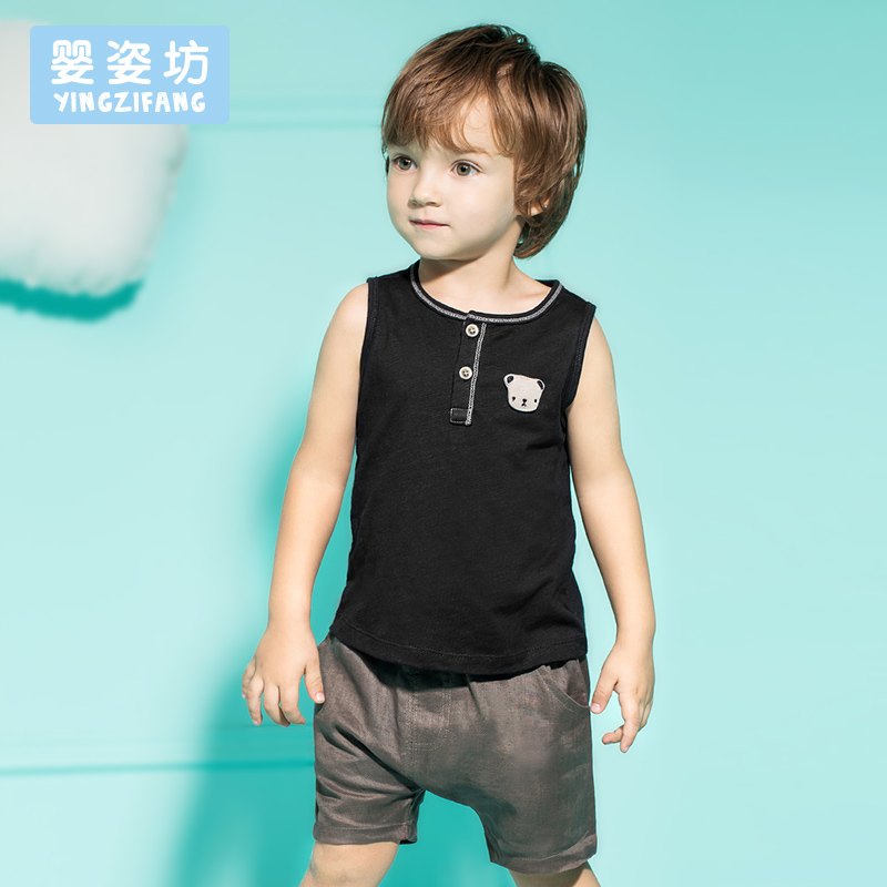 2016 Summer Baby Boys Girls Clothing Set Sleeveless T-shirt + Pant 2pcs/Set(China (Mainland))