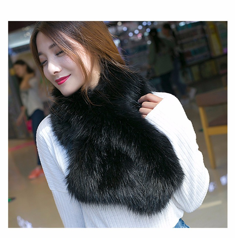 New Women Autumn Winter Double Sided Keep Warm Scarf Fashion Design Ladies Scarf 7 colors Faux Fur WWW09