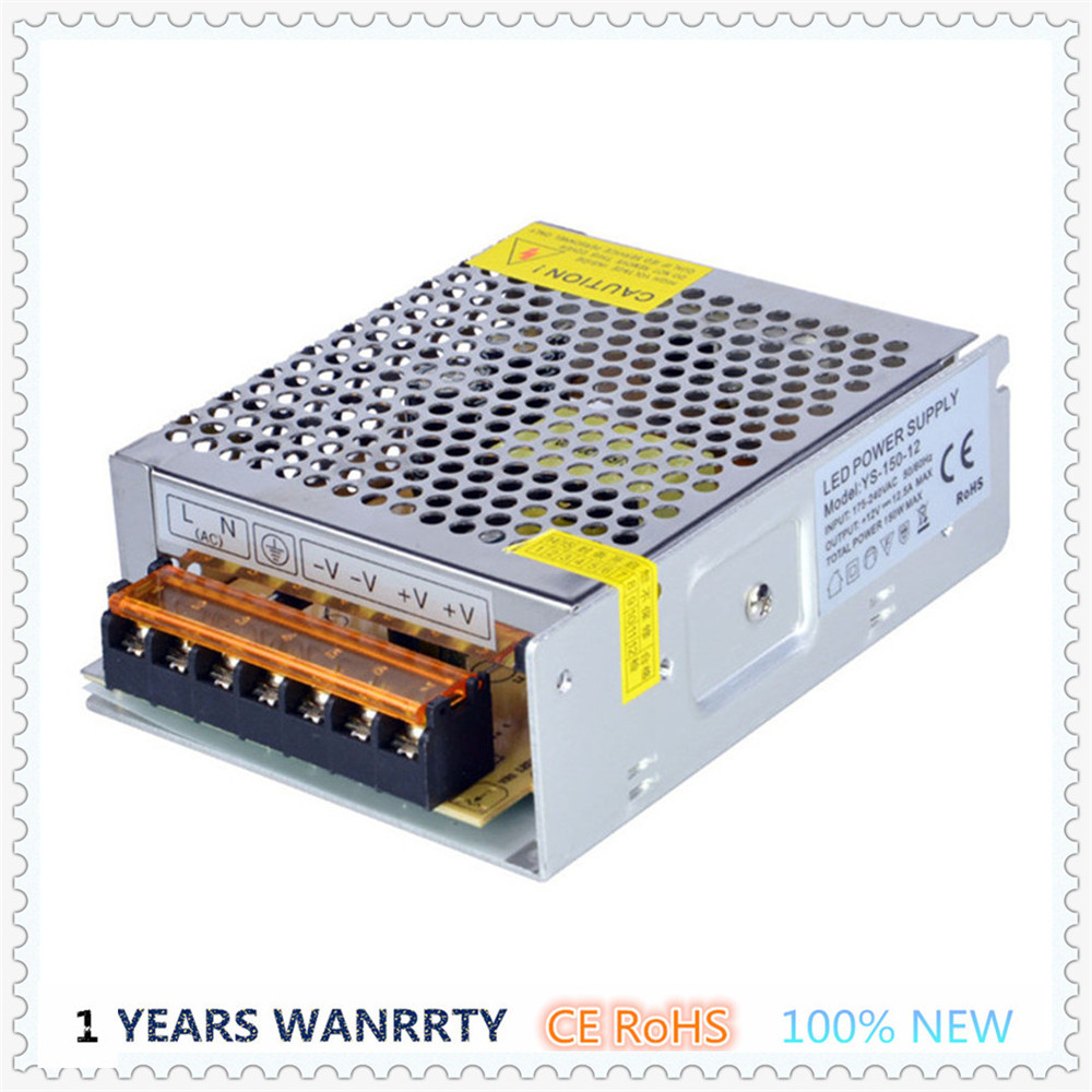Neutral SMPS 220V 230V AC-DC 12V LED Driver Transformer Power Supply 150W 12A Single Output Metal Shell Indoor For LEDs 120W(China (Mainland))