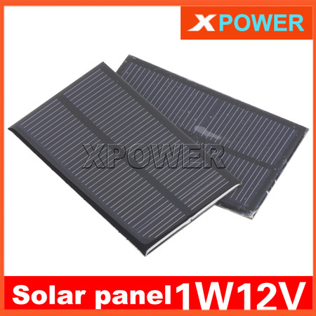 Wholesale Solar Panel 1W 12V 83mA 120X74mm Polycrystalline Solar Sell Battery Panel Charger For Arduinor DIY Model Parts(China (Mainland))