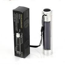 High Brightness LED aluminum flashlight, solar flashlight, emergency lights outdoors, Silver lanterna led, 123 x24mm(China (Mainland))