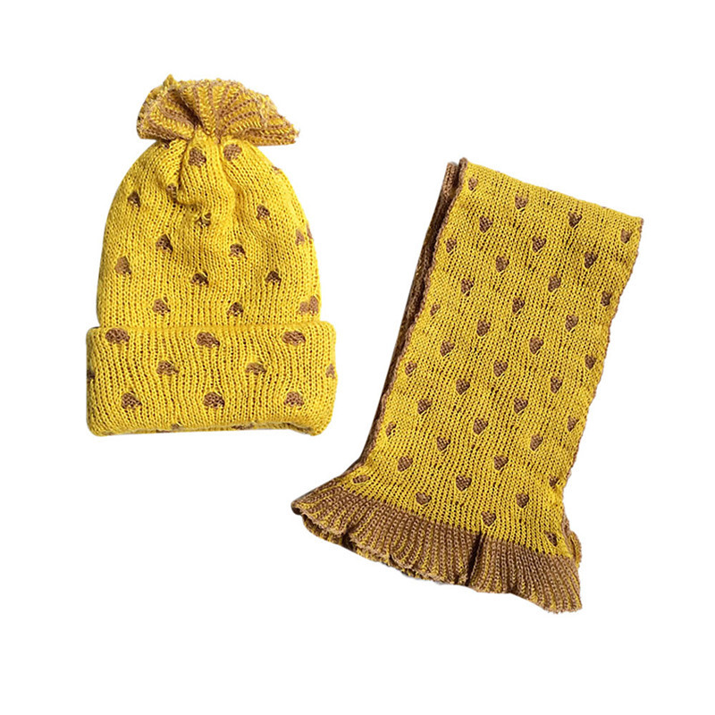 Hot Sale New Atrrival Bonnet Enfant Foulard Cute Baby Hats Fashion Baby Winter Hats & Scarf Winter Cap