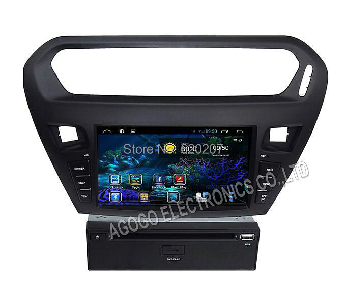 pure Android 4 4 car dvd for peugeot 301 Citroen Elysee gps Capacitive screen 3g wifi