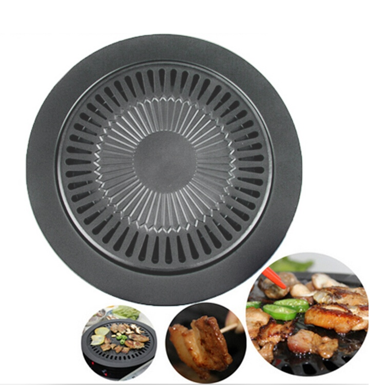 Smokeless Indoor Barbecue Pans Iron Non-Stick Barbecue Pans BBQ Roasting Grill Plate Indoor Cooking Tools Free Shipping(China (Mainland))