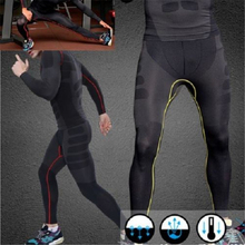 Hot Men Athletic Pants Compression Running Sports Training Base Layers Skin Tights Quick Dry L4