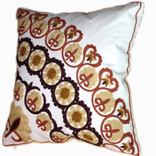 Decorative Cotton Embroidery Cushion Cover,45X45Cm,Square Sofa Cushion,Car Cushion Cover,Bedding Decorative Throw Pillow Case(China)