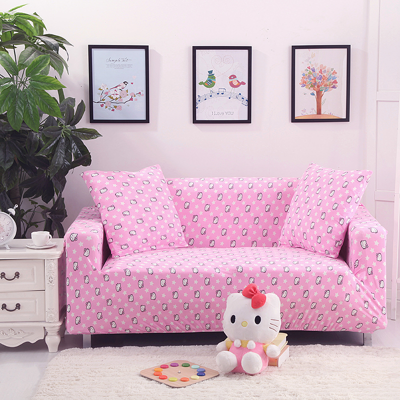 Pink sofa cover slip-resistant cover elastic for full sofa Single/Two/Three/Four seat sofa cover polyester Covers for furniture(China (Mainland))