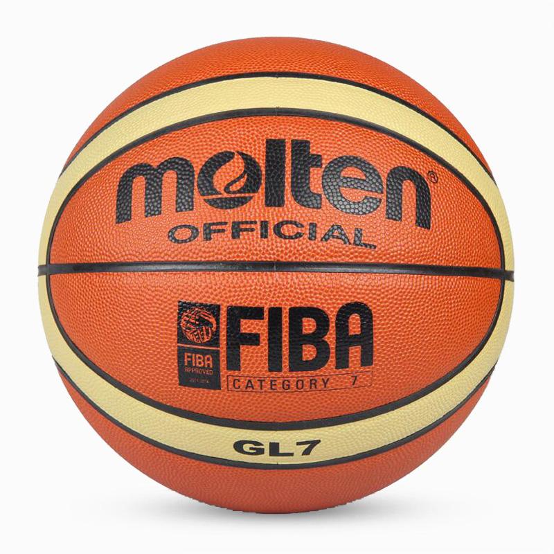 Free shipping NEW Brand Cheap Molten GL7 Basketball Ball PU Materia Size7 Basketball Free With Net Bag+ Needle(China (Mainland))