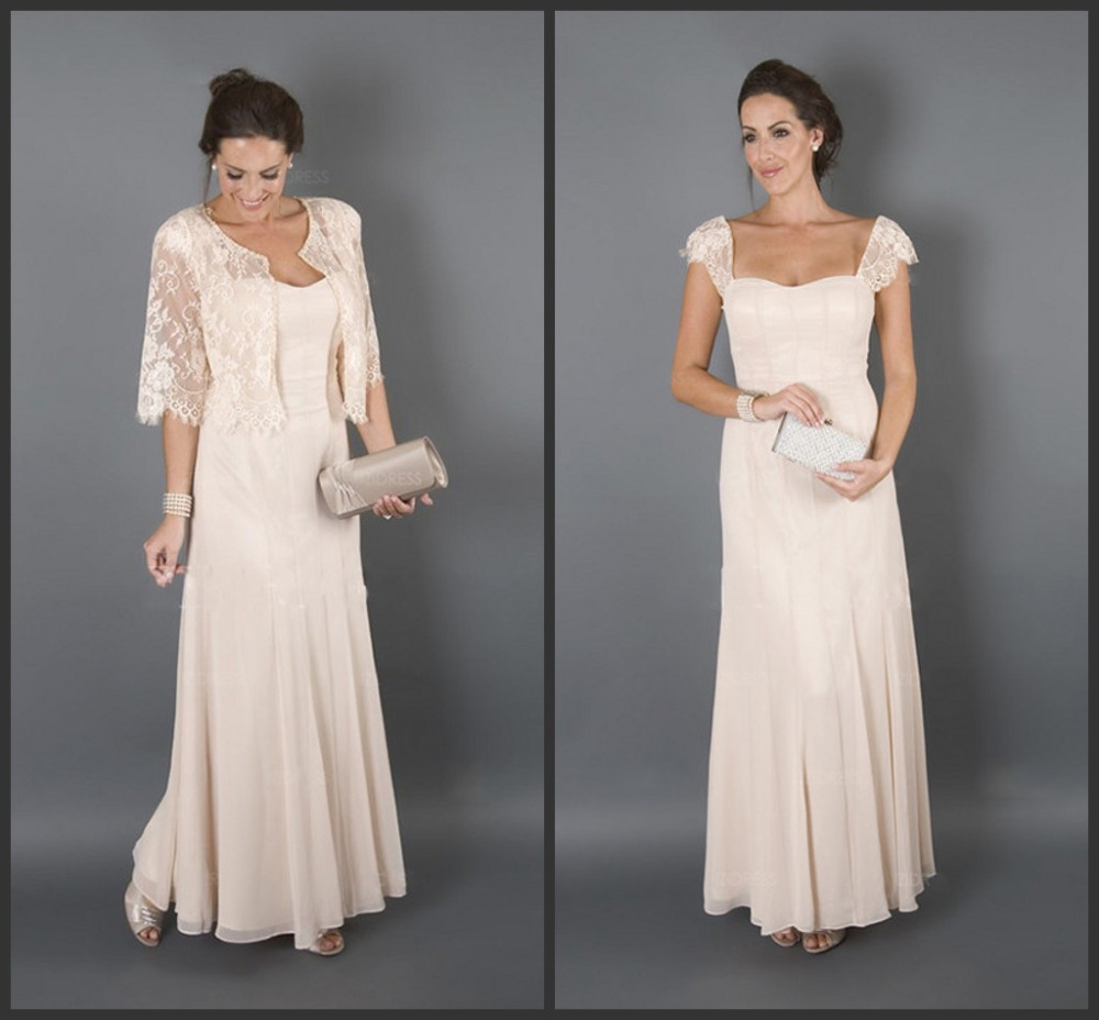 2016 bridal mother dresses for beach wedding long cap sleeves wedding guest dresses mother of