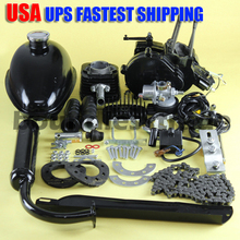 OPHIR 80CC 2-stroke Bicycle Engine Kit Single Cylinder 80cc Motor Kits for Motorized Bicycle Black Engine Muffler_MR001B