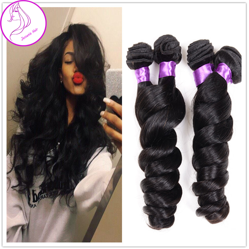 sunlight human hair wet and wavy virgin peruvian hair peruvian  loose curly wave loose deep wave weave hair extension clip curl<br><br>Aliexpress