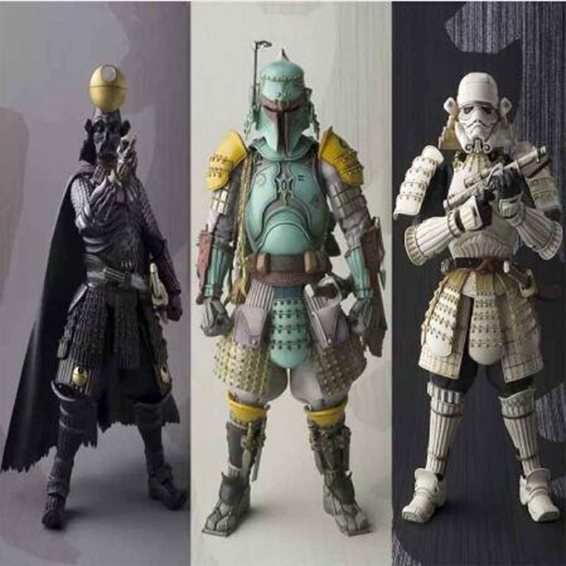 Anime Star Wars Stormtrooper Darth Vader Boba Fett Sic Samurai Taisho pvc Action font b Figures