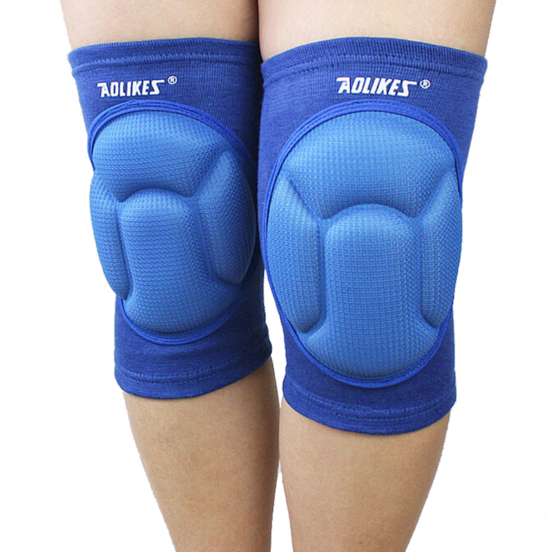 2PCS/Pack Thickened Sponge Knee Pads Protector Knee Pads Football Volleyball Dance Cycling Extreme Sports Ski Protector HX03(China (Mainland))