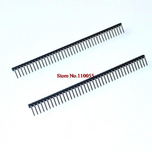 50PCS/LOT x 2.54mm Right Angle Male Single Row Pin Header Connectors in stock Hight Quality Top seller(China (Mainland))