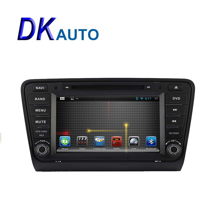 2 Din Android Car Stereo Audio Radio for Skoda Octavia 2 3 a7 a 7 Yeti 2013 2014 2015 Automotivo Car DVD Player GPS Navigation(China (Mainland))