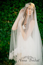 Top Sell Bridal Viel Luxury Wedding Veils Custom Made veu de noiva 2015 Tulle Veils VE27