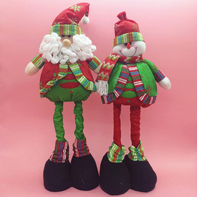 50 CM New Year Christmas Decorations Ornament XMAS Plush Dolls Santa Claus Snowmen Reindeer Adornos Navidad 2015 Christmas Gifts(China (Mainland))