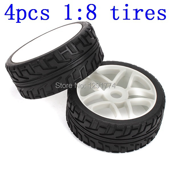 4PCS RC 1/8 Off-road Car Star Hub Rims Tires For Running On The Cement Ground(China (Mainland))