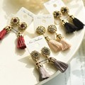 New Rhinestone Long Tassel Dangle Earrings for Women Thread Fringe Drop Earrings
