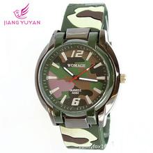 2015 nueva marca hombre relojes relojes del ejército moda deportes cuarzo verde