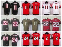 100% Stitiched,Atlanta Falcons,Matt Ryan,Julio Jones,Deion Sanders,brett favre,Devonta Freeman,Neal(China (Mainland))