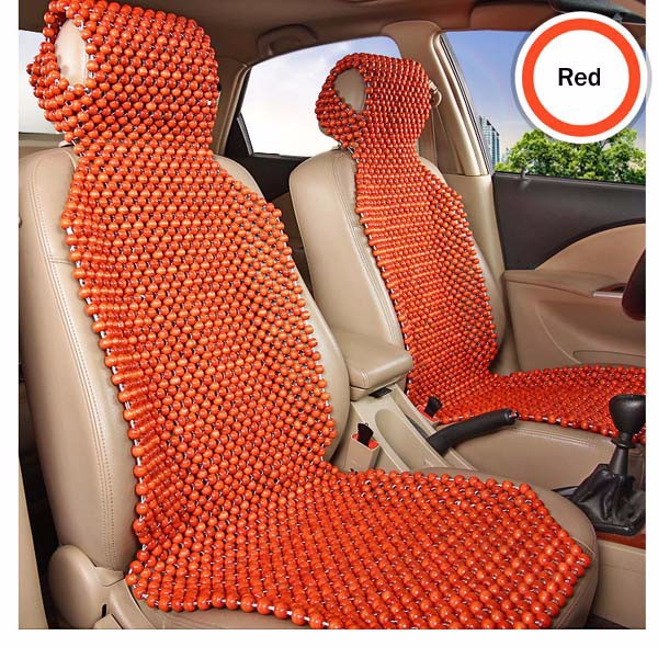 natural wood wooden beaded massage seat cover cool cushion for auto car truck ebay. Black Bedroom Furniture Sets. Home Design Ideas