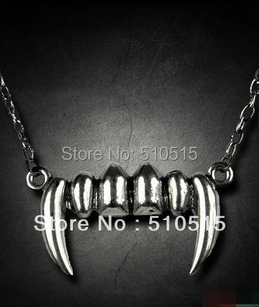 The Vampire Diaries Tusk Fangs Teeth Necklace