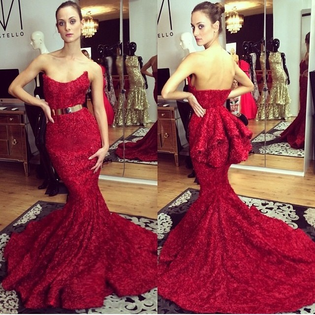 belt dress Picture - More Detailed Picture about Custom Made Red ...
