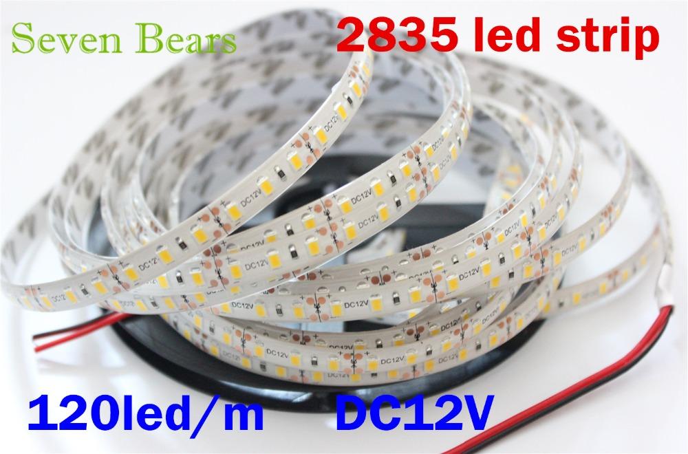 5M 2835 600Leds Warm white Red Green Blue Yellow LED Flexible Strips Flexible LED Lighting DC12V(China (Mainland))