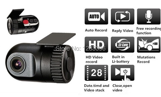 Freeshipping & wholesale Universally Car DVR HD 720P diving video recorder Wide-angle 140 degree support SD card 32GB(China (Mainland))