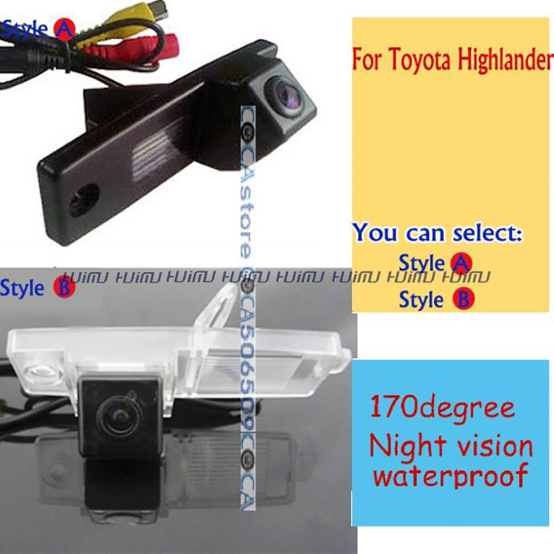 wireless wire Car Rear View Camera parking assist for Toyota Highlander,Hover G3,Coolbear,Hiace Kluger / Lexus RX300(China (Mainland))