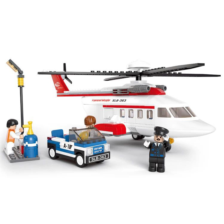 Model Building Kits Scale Models Classic Toys Learning & Education Toys Building Blocks Helicopter Model 259pcs B0363(China (Mainland))