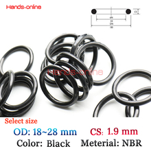 Buy Option OD 18 19 20 21 22 23 24 25 26 27 28mm x 1.9mm CS NBR O-rings O Ring Oring hydrocarbons oils gasoline esters 10PCS/LOT for $1.15 in AliExpress store