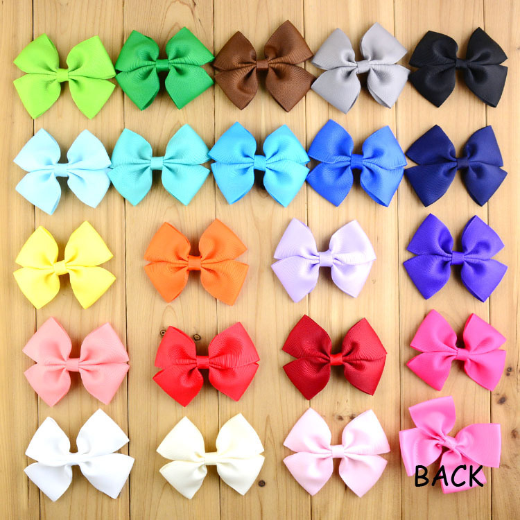 Free shipping , 22 pcs/lot , Double Hair Bow Childrens Kids Ribbon Bow Hairbows Hair accessories(China (Mainland))