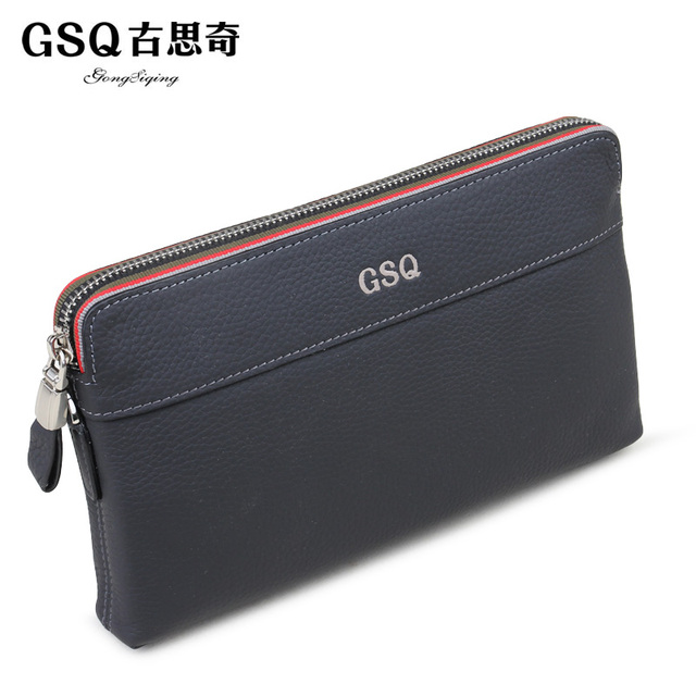 Gsq autumn new arrival male business casual wallets fashion day clutch first layer of cowhide clutch
