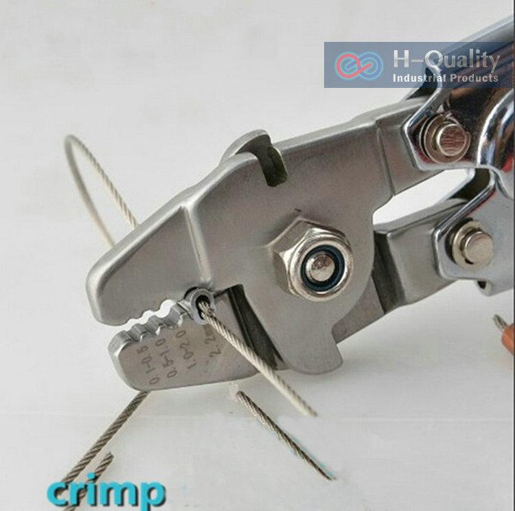 buy ferrule sleeves crimping tool clamp tool steel wire rope. Black Bedroom Furniture Sets. Home Design Ideas