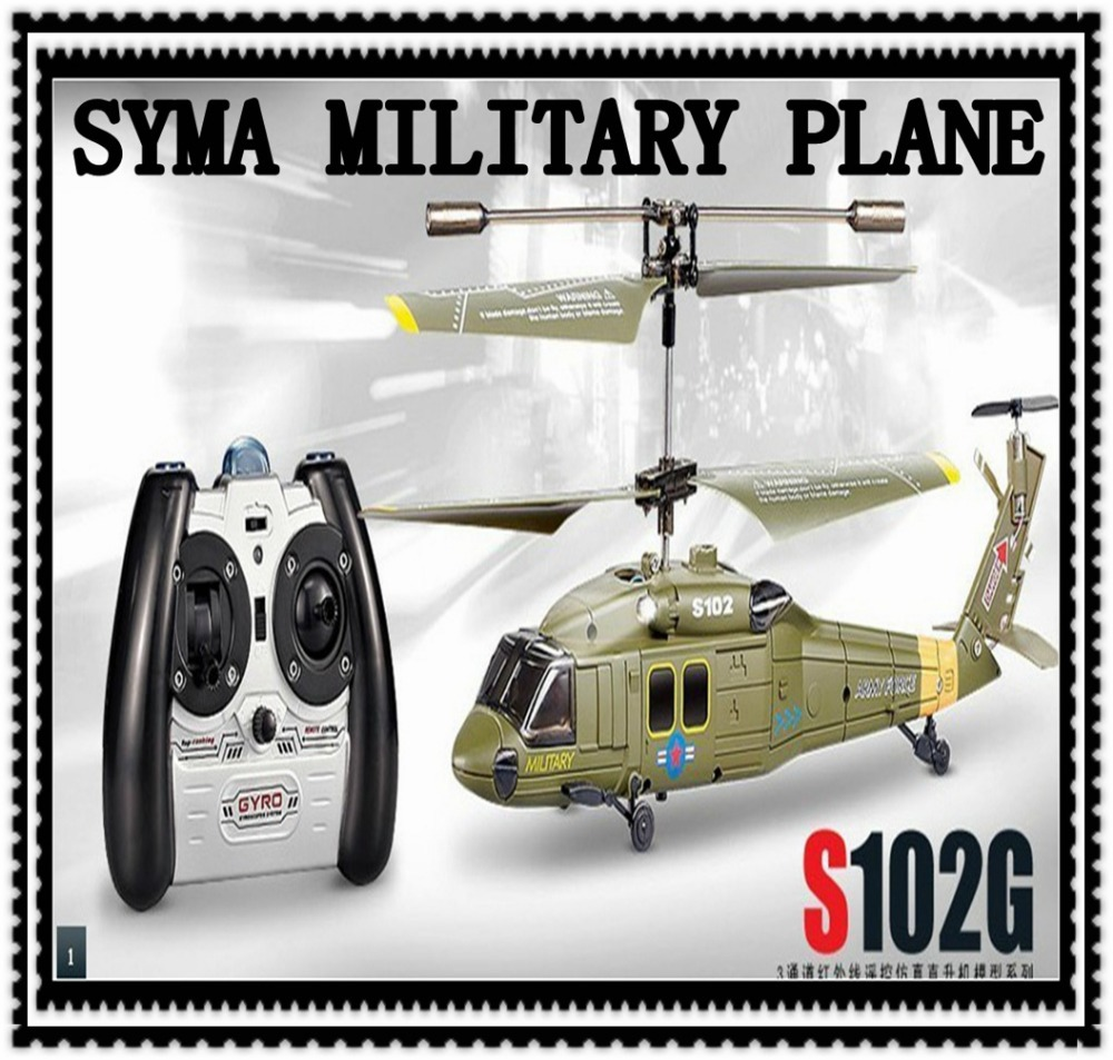Free Shipping Best Helicopter Model Genuine Syma S102G 3 Channel RC Helicopter RC Mini Military Design Drone Kids Toys Wholesale(China (Mainland))