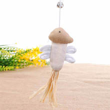 Product For Cheap Cat Toys interactive With Bells Elastic Rod Has a Funny Cat Mouse Pumpkin Feather Chick Fish Mascotas Juguetes(China (Mainland))