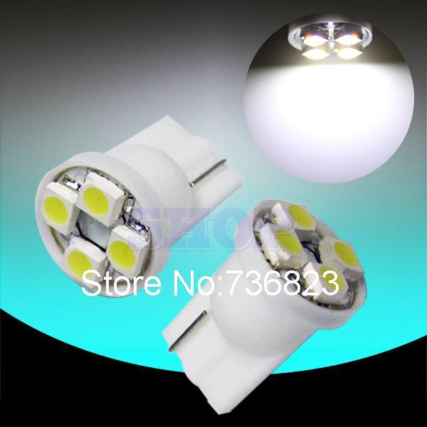 10pcs T10 4 SMD License Plate White 194 W5W LED Bulb Lamp 501 dash led car bulbs interior Lights Car Light Source parking 12V(China (Mainland))
