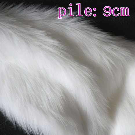 "White, Solid SHAGGY FAUX FUR FABRIC (LONG PILE FUR), costums, hair,36""X60"" SOLD BY THE YARD, FREE SHIPPING(China (Mainland))"