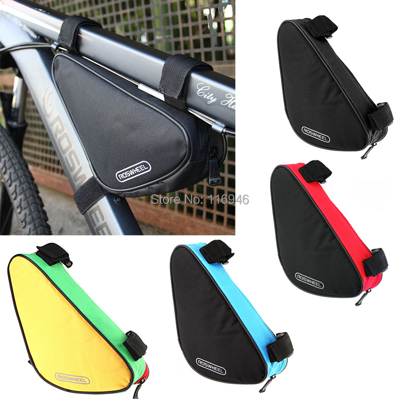 2014 4 Colors Waterproof Roswheel 1.5L Outdoor Triangle Cycling Bicycle Front Tube Frame Bag Mountain Bike Pouch - Bella Sports Mall store