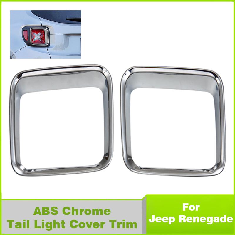 Car Exterior Decorative Cover Tail Light Chrome Cover trim For New Jeep SUV Renegade 2015-2016(China (Mainland))