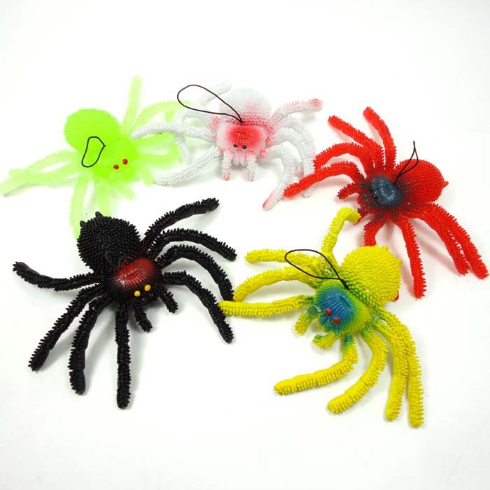 2014 Fantasia Halloween Toys for Kids Soft Black Rubber Halloween Spider Scary for Tricks Practical Jokes 16x8cm(China (Mainland))