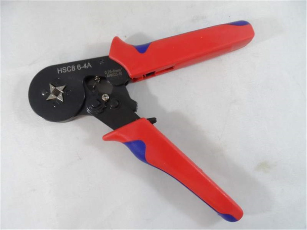 AWG23-10 Self Adjusting Crimping Plier Ratcheting Ferrule Crimper HSC8 6-4A 0.25-6mm2(China (Mainland))