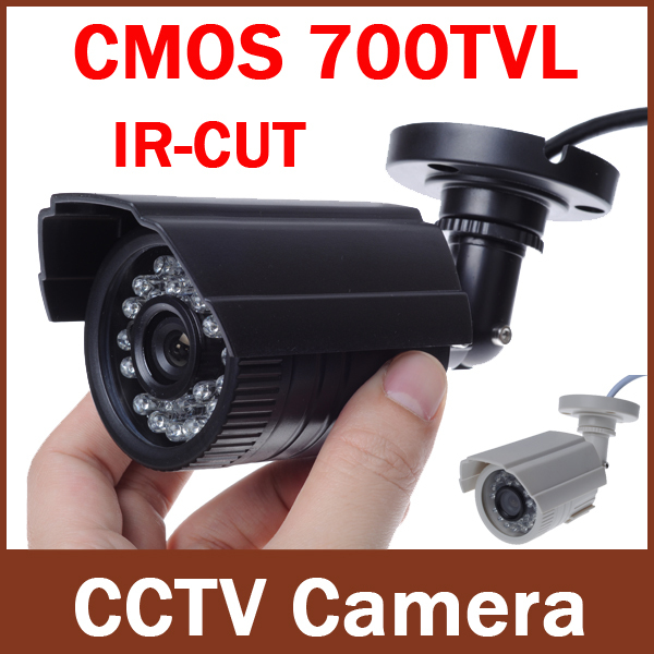 MiNi CCTV Security Camera Outdoor Bullet 700TVL 1/3 Color IR-CUT Filter CMOS 3.6mm Lens 24IR Leds Waterproof ABS plastic case(China (Mainland))