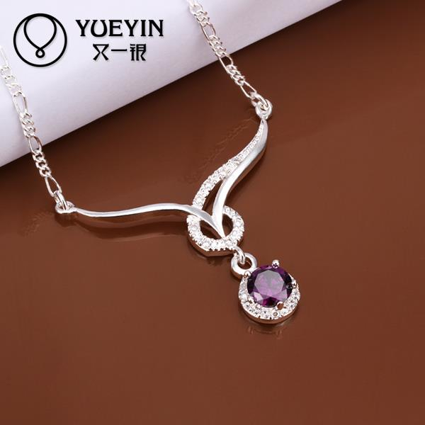 Fashion design 925 sterling silver pandent necklace women 2015, sterling silver jewelry factory direct(China (Mainland))