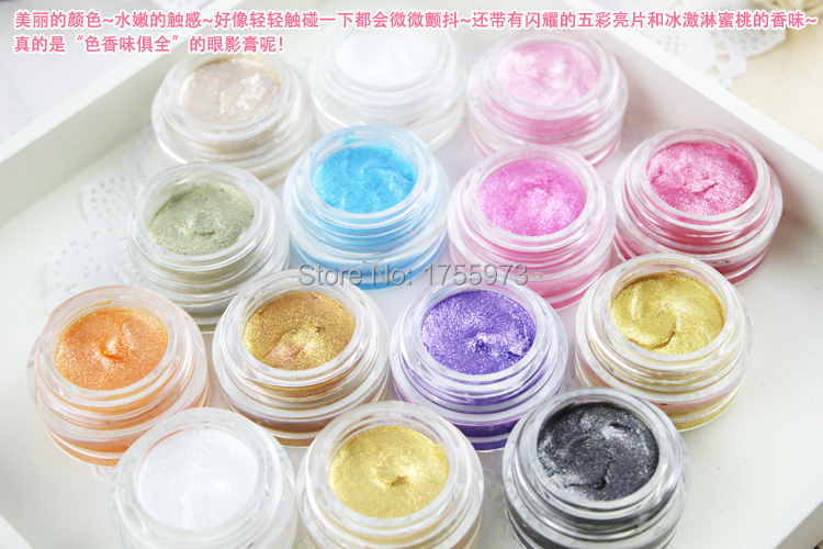 Wet Eyeshadow Cream Love Alpha 252 Shining Eye Color Frozen 6g 14 Colors Moist Shimmer Natural Easy Wear Brand Satin (3psc/lot)(China (Mainland))