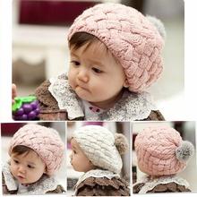 new autumn winter faux rabbit fur crochet baby beanie kids hats newborn bebes bonnet cap for 0-3 year old girl,photography props(China (Mainland))